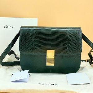 Brand new CELINE classic Lizard skin bag